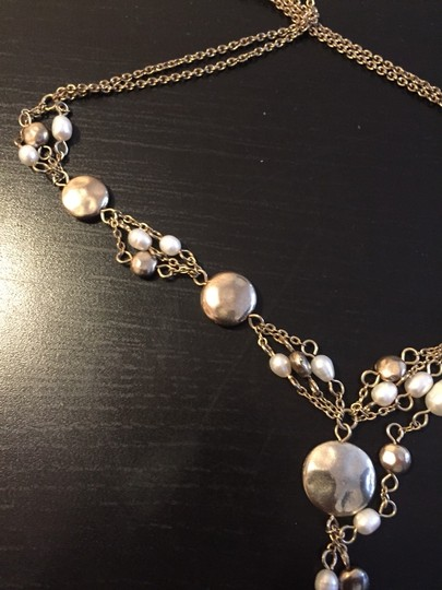 Other Pearl & Gold Adjustable Necklace Image 3