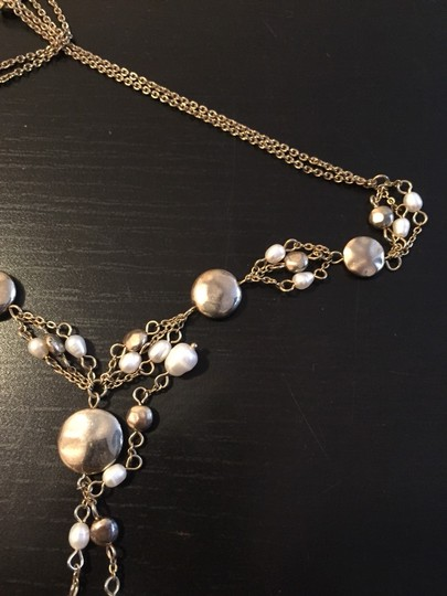 Other Pearl & Gold Adjustable Necklace Image 4