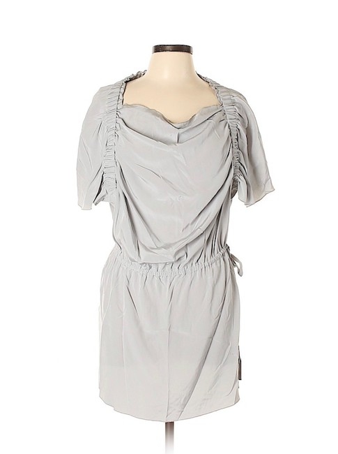 Preload https://img-static.tradesy.com/item/23406906/anthropologie-grey-artisan-de-luxe-ruched-tie-waist-silk-short-casual-dress-size-12-l-0-2-650-650.jpg