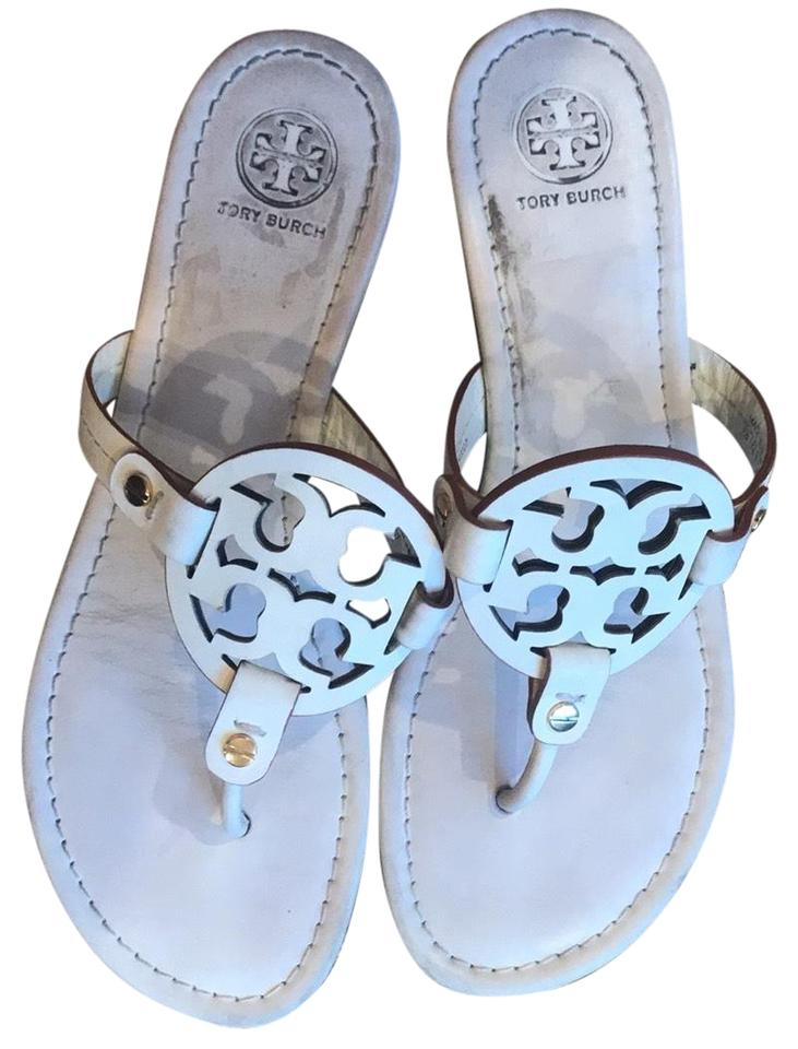 e31bc44af Tory Burch White Leather Miller Sandals. Size  US 8 Regular (M ...