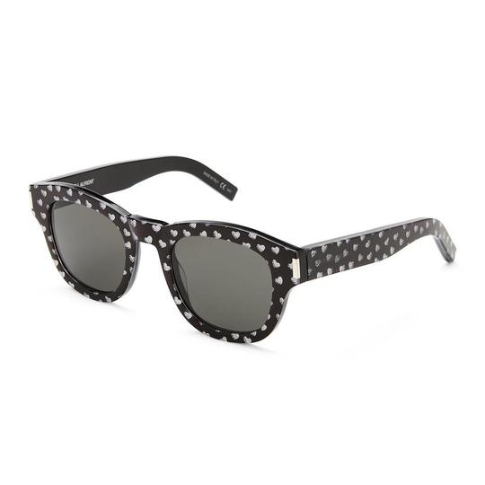 Preload https://img-static.tradesy.com/item/23407114/saint-laurent-black-bold2-heart-print-round-sunglasses-0-0-540-540.jpg