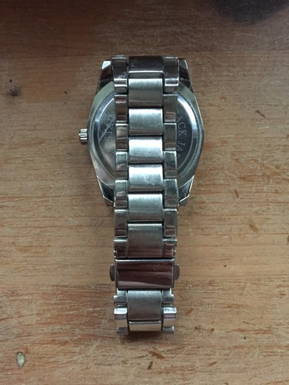 Bloomingdale's Silver Pave rhinestone studded Halo Surround Menswear Chunky Watch Image 4