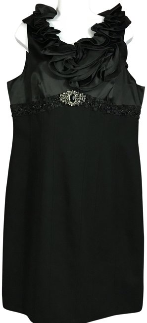 Preload https://img-static.tradesy.com/item/23407199/js-collections-black-ruffled-trim-mid-length-night-out-dress-size-16-xl-plus-0x-0-2-650-650.jpg