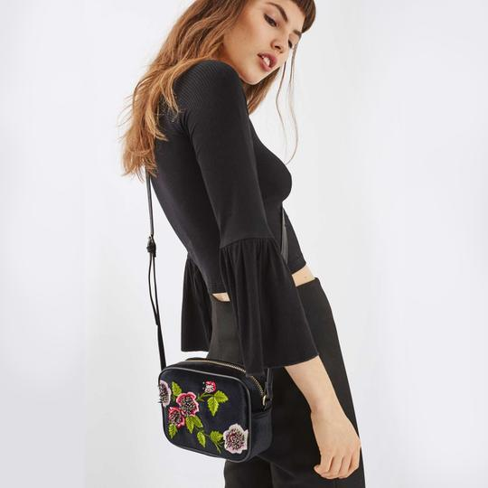Topshop Embroidered Floral Embroidery Anthropologie Freepeople Boho Cross Body Bag Image 1