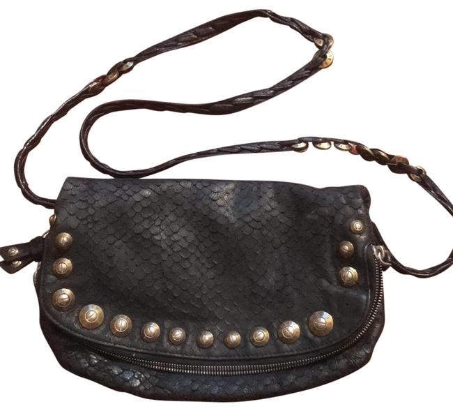 Item - Clutch Convertible Purse Black Leather Exterior & Satin Interior Lining Beach Bag
