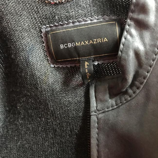 BCBGMAXAZRIA Gray Leather Jacket Image 6