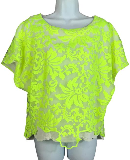 Preload https://img-static.tradesy.com/item/23407340/line-and-dot-neon-yellow-line-and-dot-embroidered-slip-on-l-blouse-size-12-l-0-1-650-650.jpg