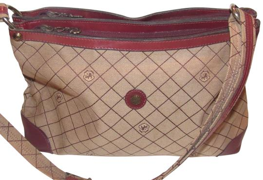 Preload https://img-static.tradesy.com/item/23407469/vintage-pursesdesigner-purses-brown-leather-and-john-romain-logo-print-canvas-in-browns-shoulder-bag-0-1-540-540.jpg