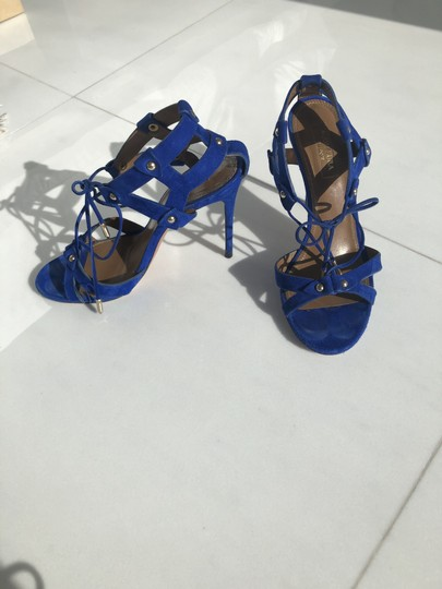 Aquazzura Summer Heels blue Sandals Image 1