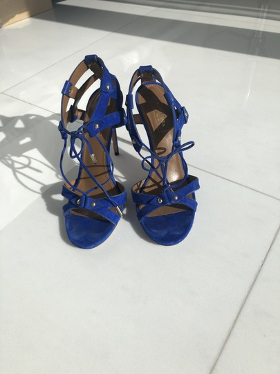 Aquazzura Summer Heels blue Sandals Image 3