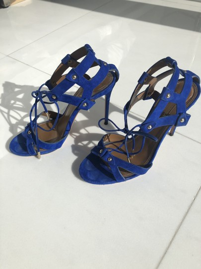 Aquazzura Summer Heels blue Sandals Image 6