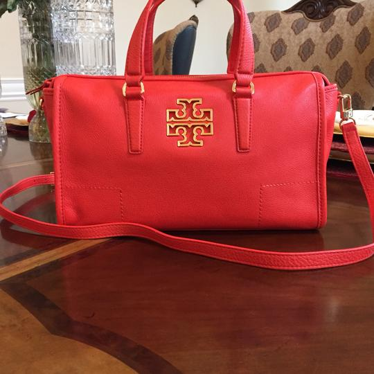 Tory Burch Pebbled Leather Light Leather Satchel Image 0