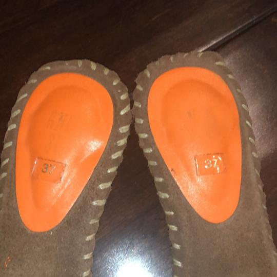 Anna Sui orange and brown Mules Image 1