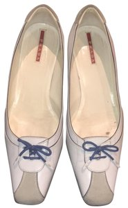 Prada white, blue, grey Flats