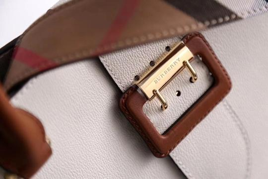 Burberry Business Buckle Tote in White Image 1