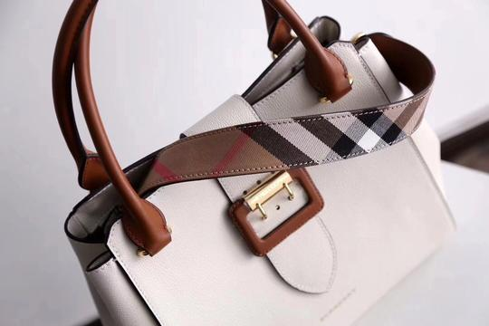 Burberry Business Buckle Tote in White Image 2