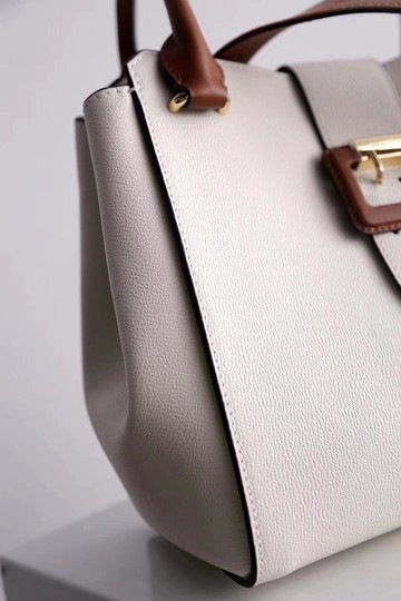 Burberry Business Buckle Tote in White Image 3