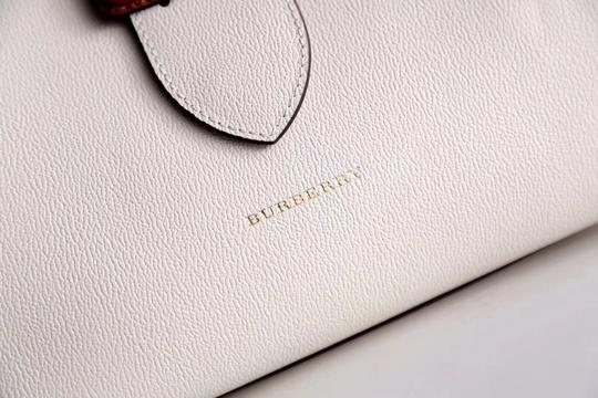 Burberry Business Buckle Tote in White Image 4