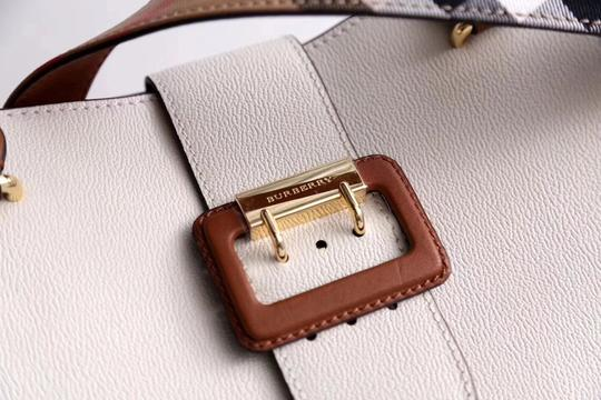 Burberry Business Buckle Tote in White Image 5