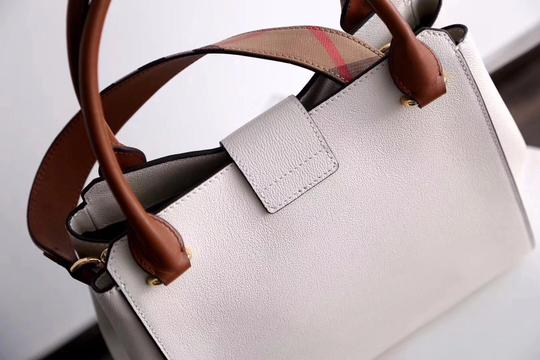 Burberry Business Buckle Tote in White Image 6