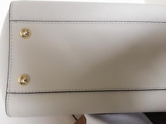 Burberry Business Buckle Tote in White Image 7
