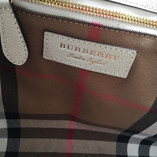 Burberry Business Buckle Tote in White Image 8