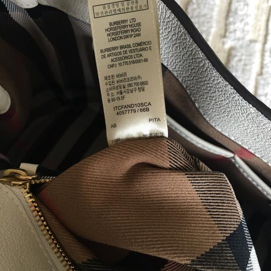 Burberry Business Buckle Tote in White Image 9