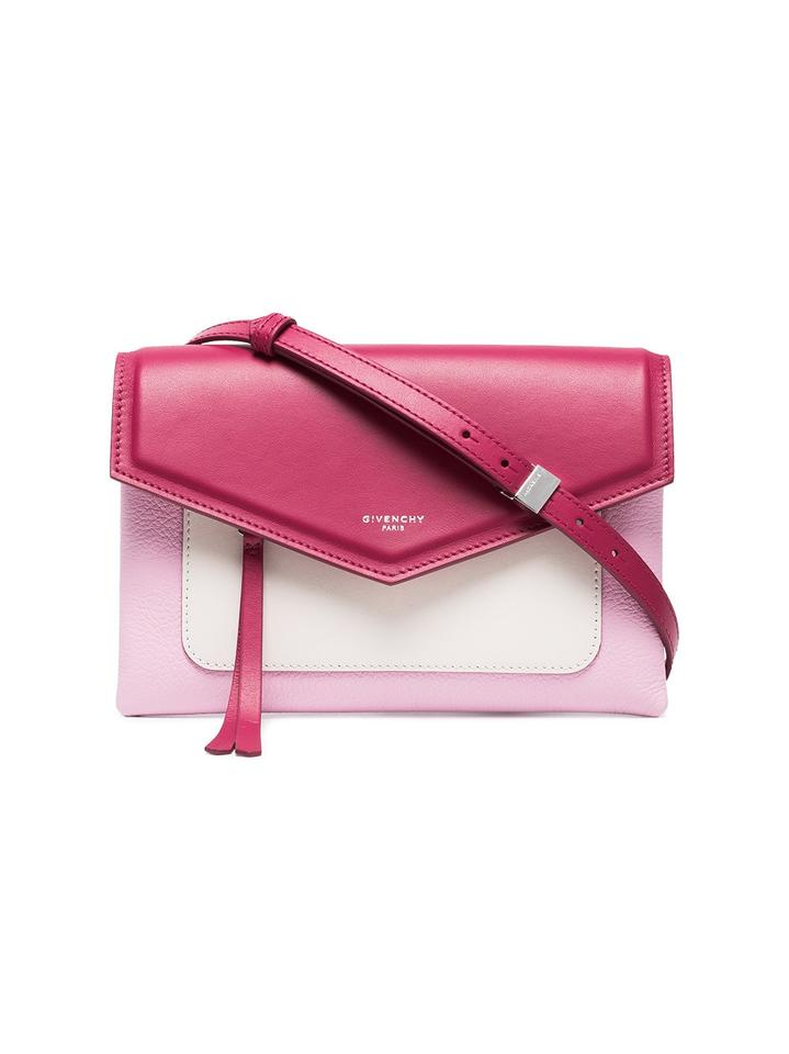 Givenchy Duetto Pink Light Pink and White Calfskin Leather Cross ... 9b99e2a1a4a82