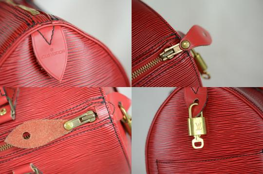 LOUIS VUITTON Epi Speedy Leather Tote in Red Image 2