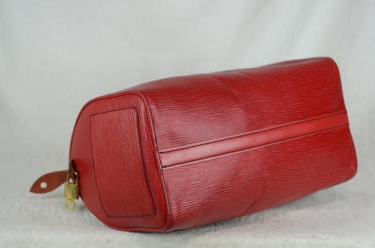 LOUIS VUITTON Epi Speedy Leather Tote in Red Image 4