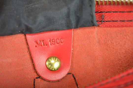 LOUIS VUITTON Epi Speedy Leather Tote in Red Image 5