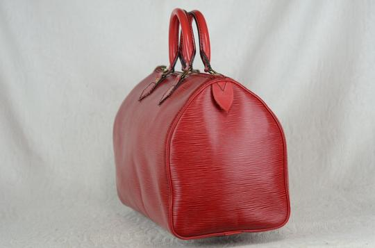 LOUIS VUITTON Epi Speedy Leather Tote in Red Image 7