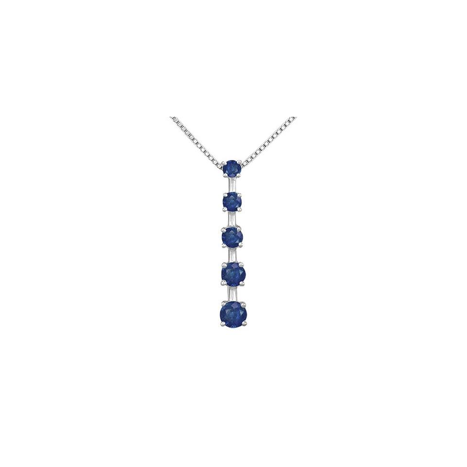 Blue white gold created sapphire journey pendant 14k 100 ct tgw marco b blue created sapphire journey pendant 14k white gold 100 ct tgw aloadofball Image collections