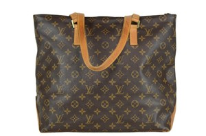 Louis Vuitton Cabas Mezzo Leather Tote in Brown