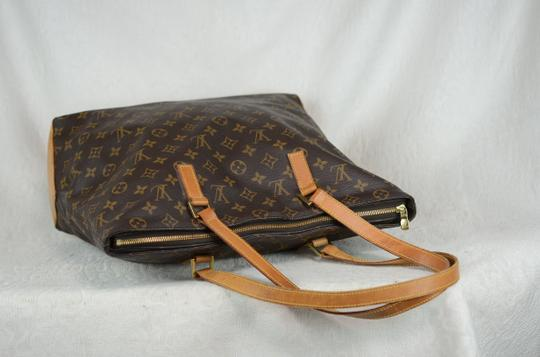 Louis Vuitton Cabas Mezzo Leather Tote in Brown Image 10