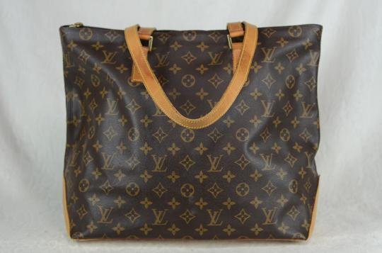 Louis Vuitton Cabas Mezzo Leather Tote in Brown Image 8