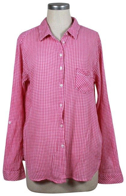 Preload https://img-static.tradesy.com/item/23407737/c-and-c-california-pink-gingham-button-down-top-size-12-l-0-1-650-650.jpg