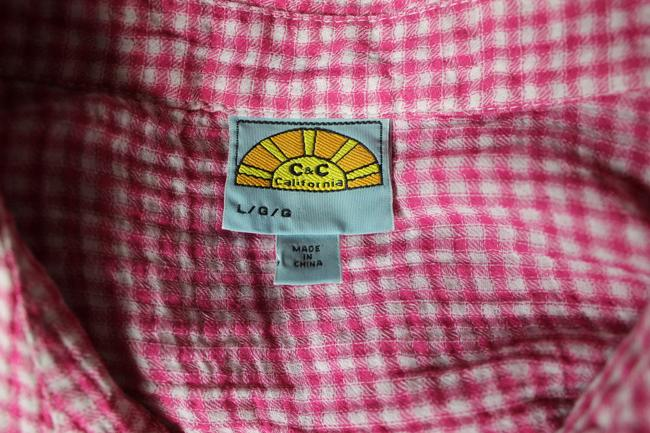 C&C California Button Down Shirt pink Image 3