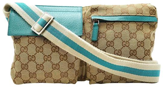 Preload https://img-static.tradesy.com/item/23407739/gucci-monogram-gg-belt-waist-pouch-228313-torquoise-coated-canvas-cross-body-bag-0-2-540-540.jpg