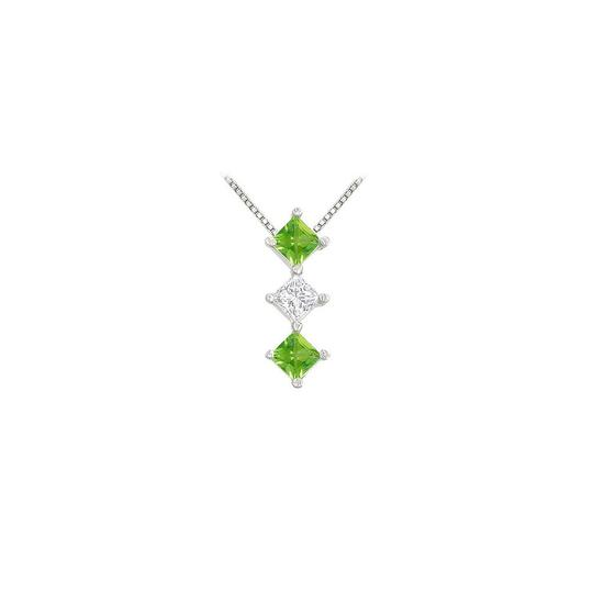 Preload https://img-static.tradesy.com/item/23407816/green-white-gold-created-emerald-and-cubic-zirconia-pendant-14k-100-ct-tgw-necklace-0-0-540-540.jpg