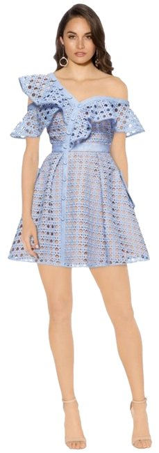 Preload https://img-static.tradesy.com/item/23407824/self-portrait-blue-new-with-tags-guipure-frill-mini-short-cocktail-dress-size-4-s-0-1-650-650.jpg
