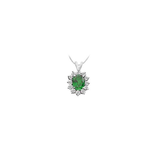 Preload https://img-static.tradesy.com/item/23407836/green-white-gold-created-emerald-and-cubic-zirconia-pendant-14k-225-ct-tgw-necklace-0-0-540-540.jpg