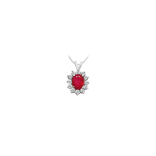 Preload https://img-static.tradesy.com/item/23407920/red-white-gold-created-ruby-and-cubic-zirconia-pendant-14k-225-ct-tgw-necklace-0-0-540-540.jpg