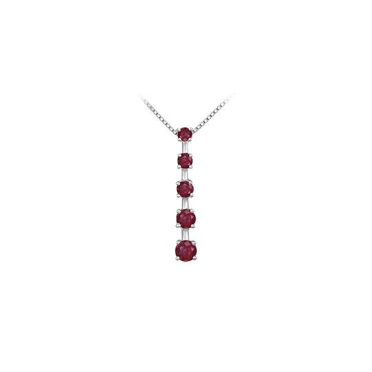 Preload https://img-static.tradesy.com/item/23407933/red-white-gold-created-ruby-journey-pendant-14k-100-ct-tgw-necklace-0-0-540-540.jpg