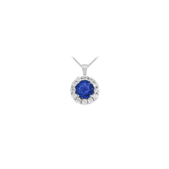 Preload https://img-static.tradesy.com/item/23407949/blue-white-gold-created-sapphire-and-cubic-zirconia-circle-pendant-14k-150-necklace-0-0-540-540.jpg
