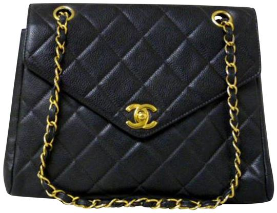 Preload https://img-static.tradesy.com/item/23407965/chanel-classic-flap-quilted-caviar-pointed-228308-black-leather-shoulder-bag-0-2-540-540.jpg