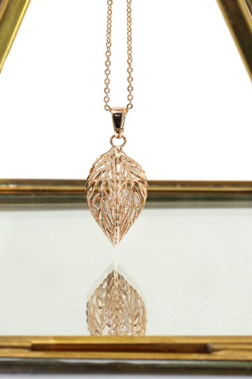 Ocean Fashion Hollow Crystal Leaf Earring Necklace Set Image 4