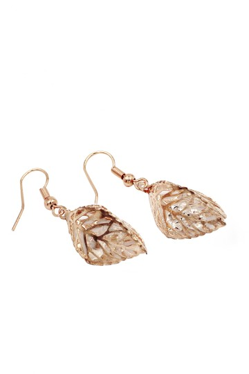 Ocean Fashion Hollow Crystal Leaf Earring Necklace Set Image 9