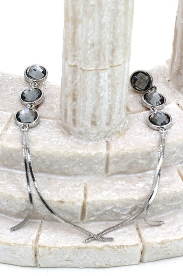 Ocean Fashion Silver Exaggerated tassels round crystal earrings Image 3