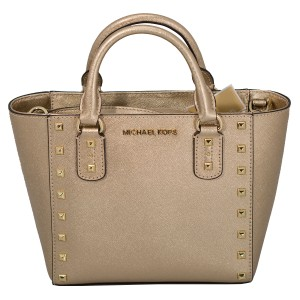 Michael Kors 191262029035 Satchel in Pale Gold